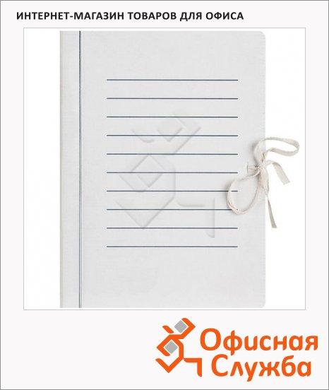 Картонная папка на завязках белая, А4, до 1200 листов