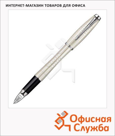 Ручка-5й пишущий узел Parker Urban Premium F504 F, черная, жемчужный корпус