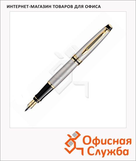 Ручка перьевая Waterman Expert F, стальной корпус