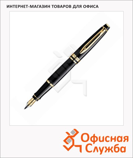 фото: Ручка перьевая Waterman Expert Black GT 0.8мм