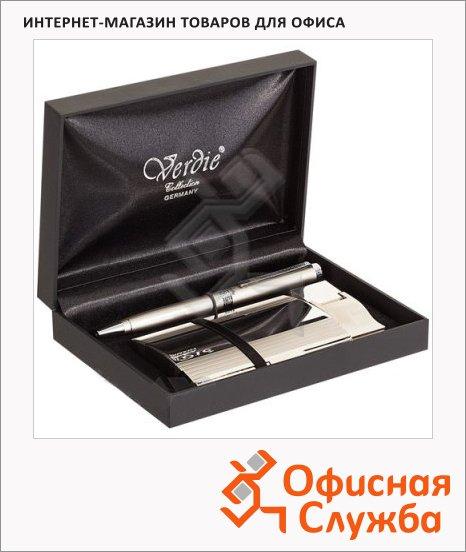 Набор пишущих принадлежностей Verdie Ve-6bg шариковая ручка, визитница, в футляре, стальной корпус