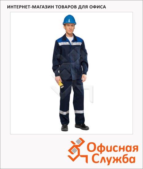 Костюм рабочий мужской Темп (р.60-62) 170-176, сине-васильковый, брючный, с СОП