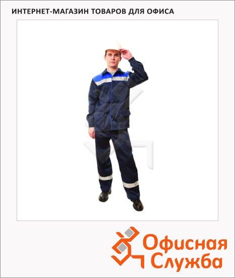 Костюм рабочий мужской Темп (р.44-46) 182-188, сине-васильковый, с полукомбинезоном, с СОП