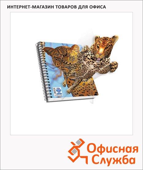 фото: Тетрадь общая 3D леопард ламинированный картон