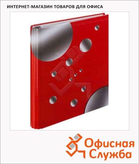 Тетрадь на кольцах №1 School красная, А5, 80 листов, в клетку, ламинированная