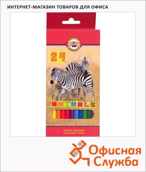 фото: Набор цветных карандашей Koh-I-Noor 24 цвета 3354