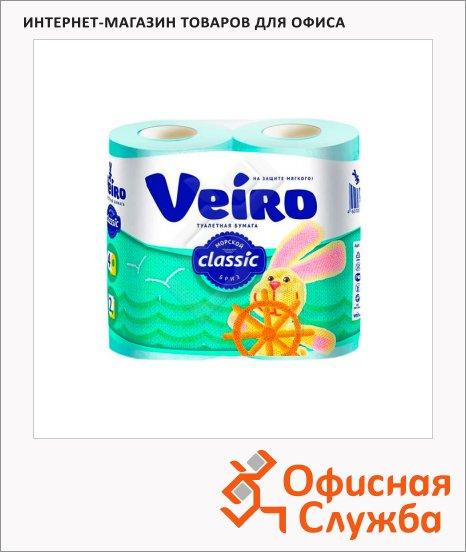фото: Туалетная бумага Veiro Classic морской бриз голубая