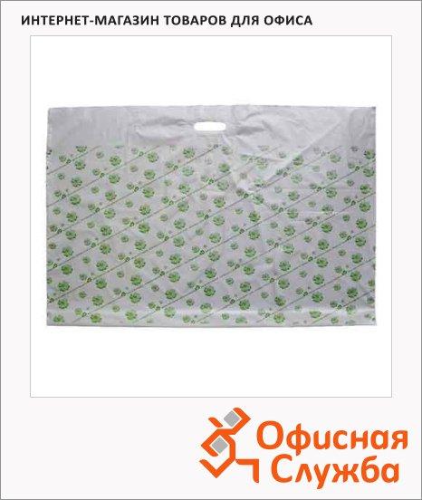 Пакет с вырубной ручкой ПВД 60х80см, 70мкм, 20 шт/уп, с рисунком
