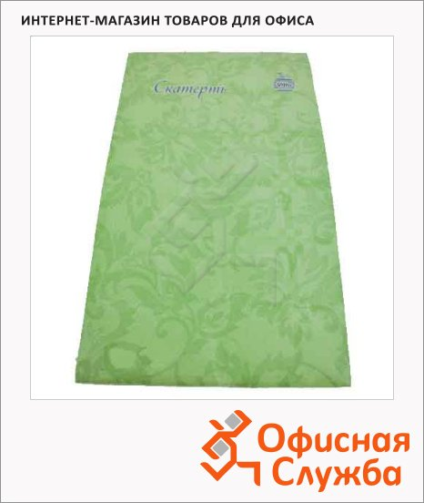 Скатерть бумажная Vitto Prestige 120х180cм, с полимерным покрытием, зеленая
