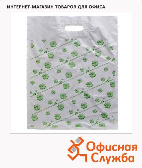Пакет с вырубной ручкой ПВД 60х63см, 65мкм, с рисунком, 20 шт/уп