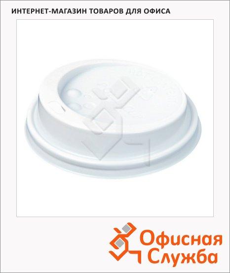 Крышка для одноразовых стаканов Huhtamaki без носика d=90мм, белая, 100шт/уп