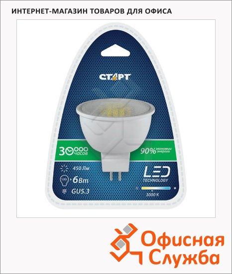 Лампа светодиодная Старт 6Вт, GU5.3, теплый белый