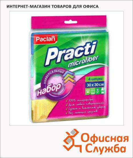 Салфетка хозяйственная Paclan Practi для кухни, 30х30см, микрофибра, 4шт/уп