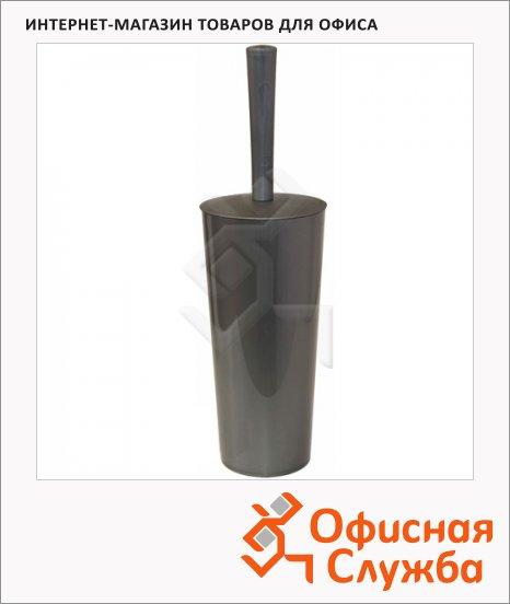 Ершик для унитаза М-Пластика закрытая колба, серый