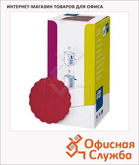 Подкладка под чашку Tork бордовая, d=9см, 8 слоев, 250шт, 474469