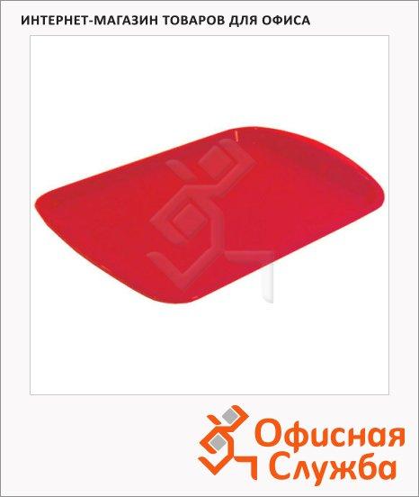 фото: Поднос прямоугольный красный 47х33 см