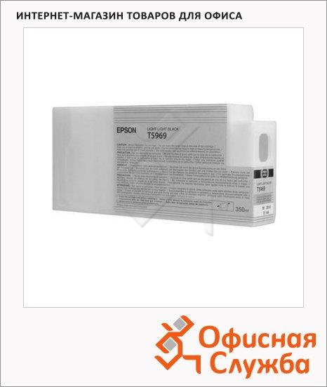 фото: Картридж струйный Epson C13 T596900 светло-серый