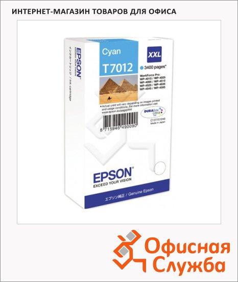 Картридж струйный Epson C13 T7012 4010, голубой