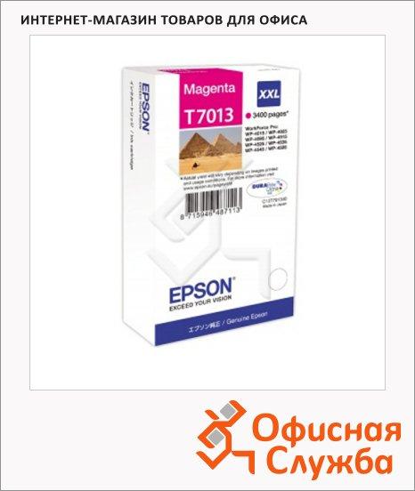 фото: Картридж струйный Epson C13 T7013 4010 пурпурный