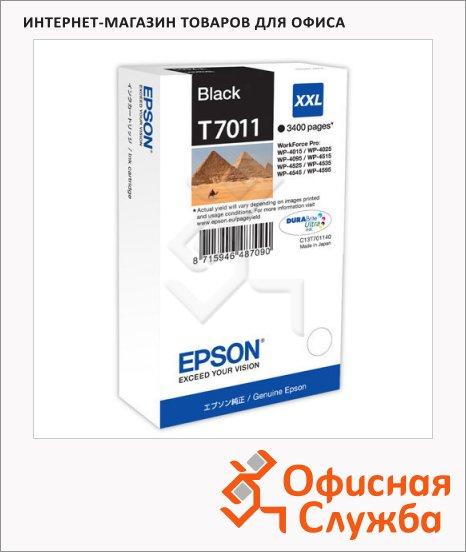 фото: Картридж струйный Epson C13 T7011 4010 черный