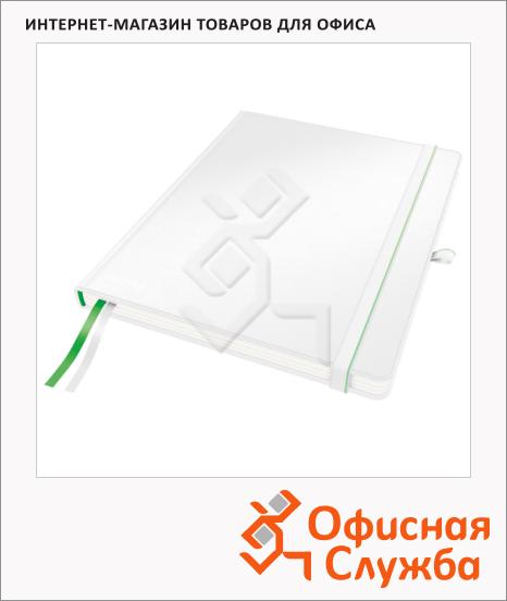 фото: Блокнот Leitz Complete iPad белый А4, 80 листов, в клетку, на сшивке, с резинкой, твердая обложка, 44730001