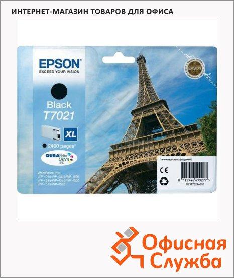 фото: Картридж струйный Epson C13 T7021 4010 черный