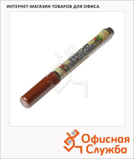 Маркер перманентный Marvy 210 коричневый, 1-2мм, круглый наконечник, для дерева и пористых поверхностей