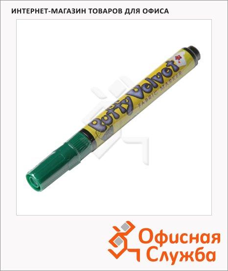 Маркер по ткани Marvy 1022 оливковый, 2-3мм, овальный наконечник, с эффектом бархата