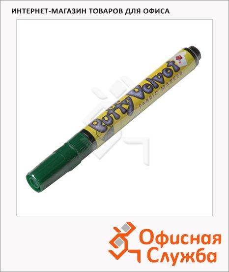 Маркер по ткани Marvy 1022 зеленый, 2-3мм, овальный наконечник, с эффектом бархата