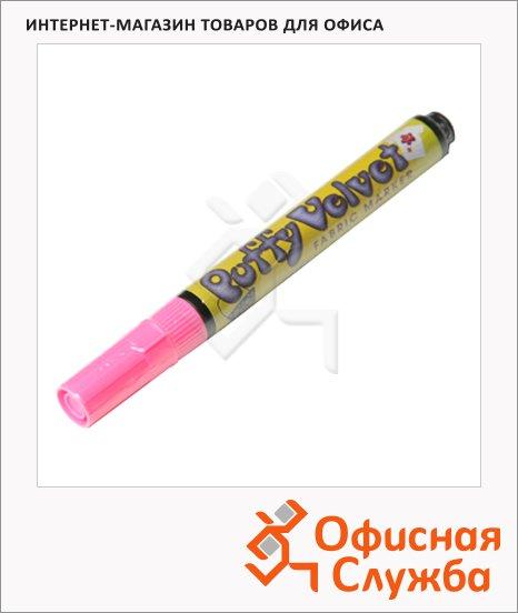 Маркер по ткани Marvy 1022 розовый, 2-3мм, овальный наконечник, с эффектом бархата