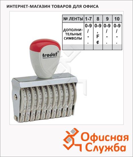 Нумератор ручной Trodat Classic Line 10 разрядов, 5мм, 15510