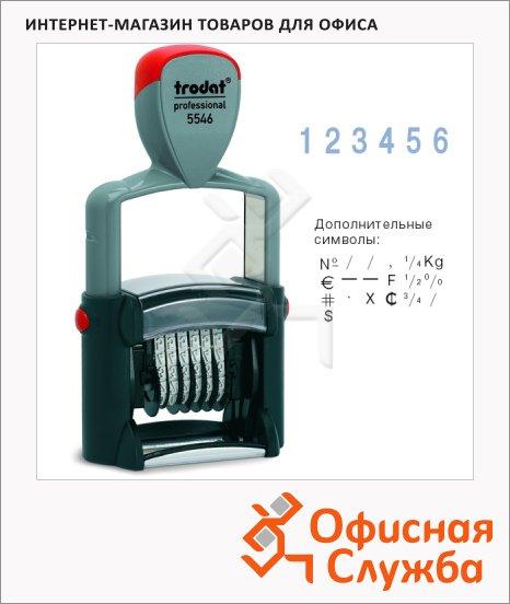 Нумератор с автоматической оснасткой Trodat Professional 6 разрядов, 4мм, 5546
