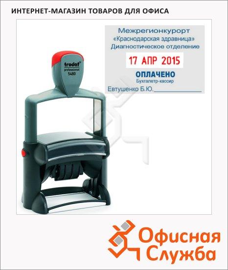 фото: Датер со свободным полем прямоугольный Trodat Professional 68x47мм 4мм, русские буквы, 5480