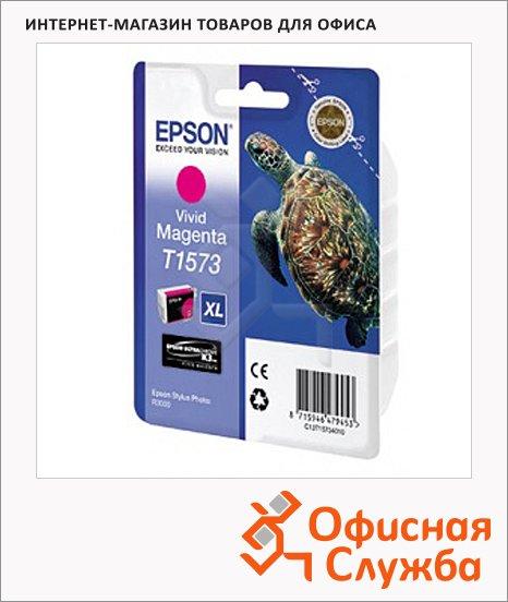 фото: Картридж струйный Epson C13 T157340 пурпурный