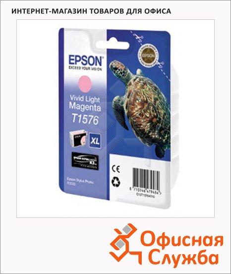 Картридж струйный Epson C13 T157640, светло-пурпурный