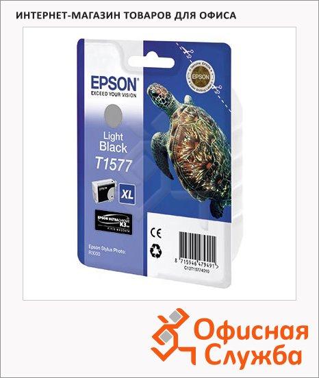 фото: Картридж струйный Epson C13 T157740 серый