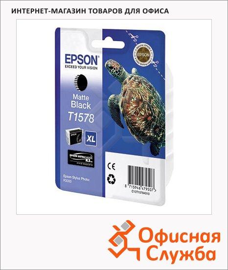 Картридж струйный Epson C13 T157840, матовый черный