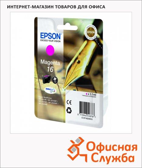 фото: Картридж струйный Epson C13 T1623 4010 пурпурный