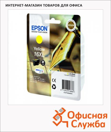 Картридж струйный Epson C13 T1634 4010, желтый