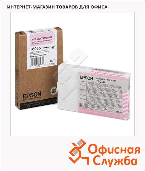 Картридж струйный Epson C13 T605600, светло-пурпурный