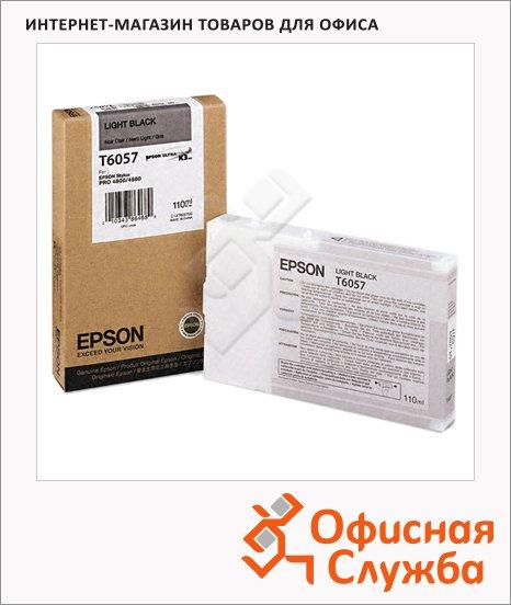 Картридж струйный Epson C13 T605700, серый