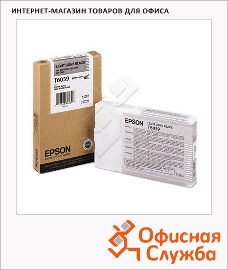 Картридж струйный Epson C13 T605900, светло-серый