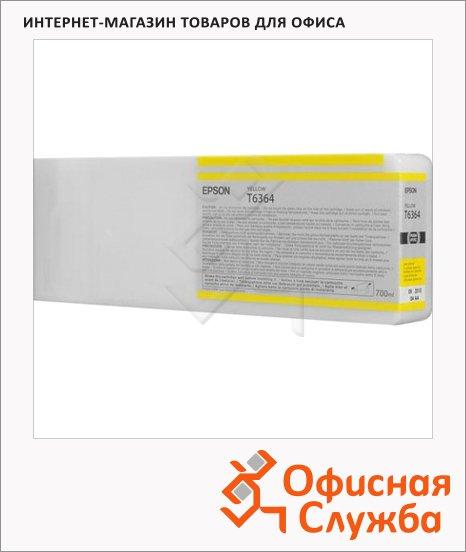 Картридж струйный Epson C13 T636400, желтый