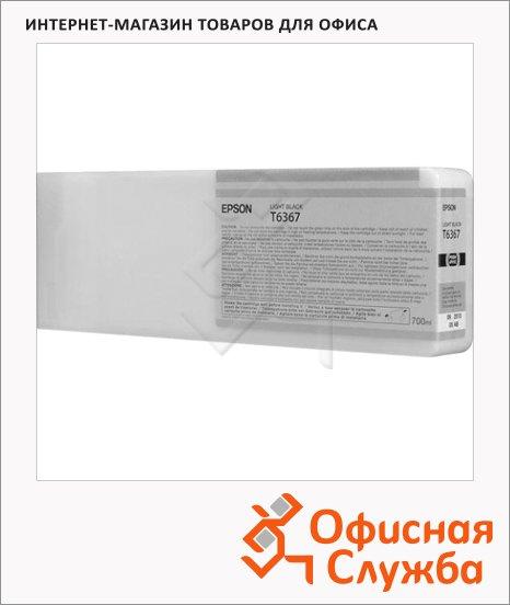 фото: Картридж струйный Epson C13 T636700 серый
