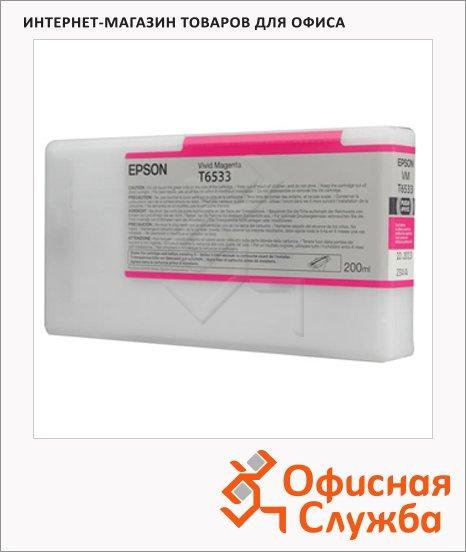 фото: Картридж струйный Epson C13 T653300 пурпурный