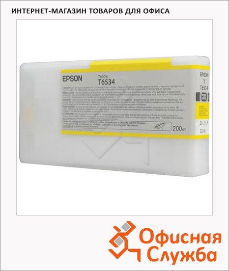 Картридж струйный Epson C13 T653400, желтый