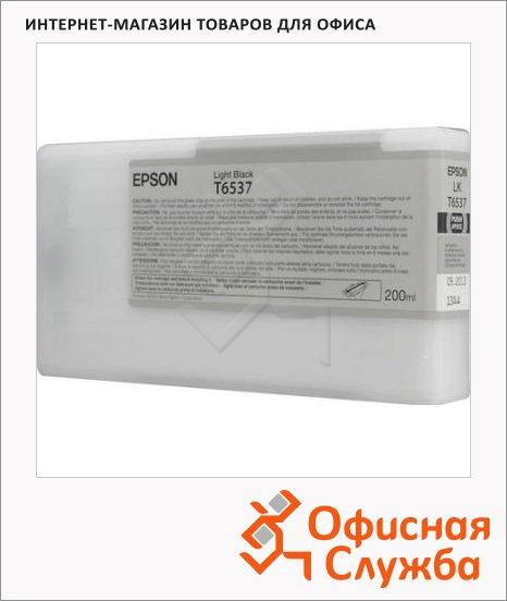 Картридж струйный Epson C13 T653700, серый