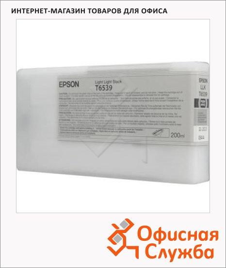 фото: Картридж струйный Epson C13 T653900 светло-серый