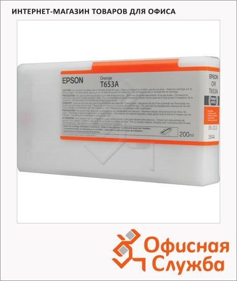 фото: Картридж струйный Epson C13 T653A00 оранжевый