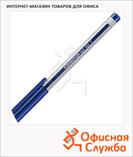 фото: Ручка шариковая Staedtler Ball F синяя 0.3мм